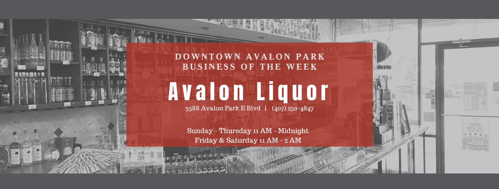 Avalon Liquor FB Header